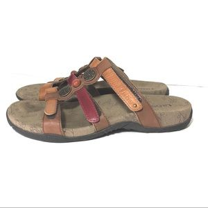 Taos Prize Leather Slip On Sandals Sz7